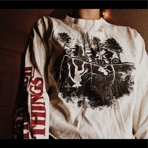 Stranger Things Cropped Long-Sleeve Shirt
